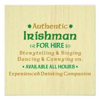Poster Irlandais authentique pour la location