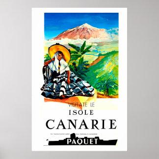 Poster Isole, Canarie, affiche de voyage