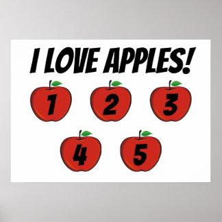 Poster J'affiche de pommes d'amour (compte)