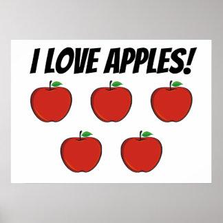 Poster J'affiche de pommes d'amour (pomme 5)
