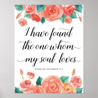 Poster J'ai trouvé celui ma copie d'art d'amours d'âme
