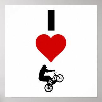 Poster J'aime BMX (vertical)