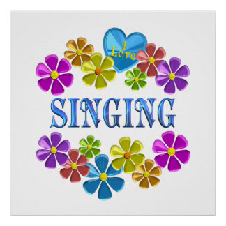 Poster J'aime chanter