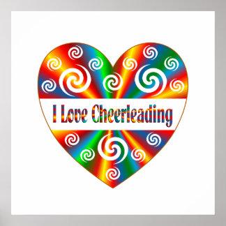 Poster J'aime Cheerleading
