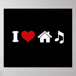 Poster J'aime la danse de l'affiche | Ibiza de noir de