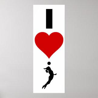Poster J'aime la verticale de volleyball (femelle)