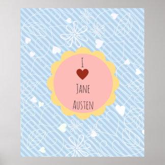 Poster J'aime le bleu de Jane Austen