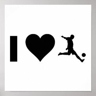 Poster J'aime le football