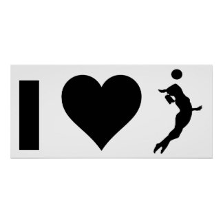 Poster J'aime le volleyball (femelle)
