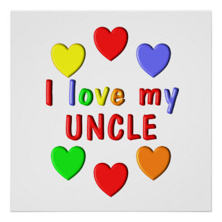 Poster J'aime mon oncle