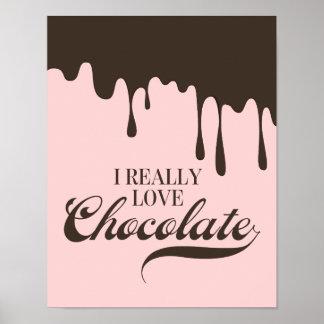 Poster J'aime vraiment le signe d'affiche de Valentine de