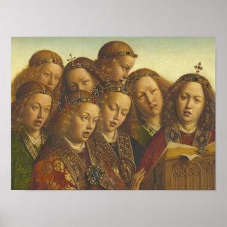 Poster Jan van Eyck chantant des anges Gand CC0062