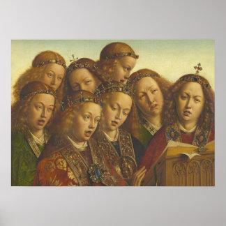 Poster Jan van Eyck chantant des anges Gand CC0184