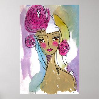 Poster Jane en pastel