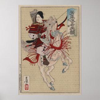Poster Japonais Ukiyo-e Hangakujo par Yoshitoshi