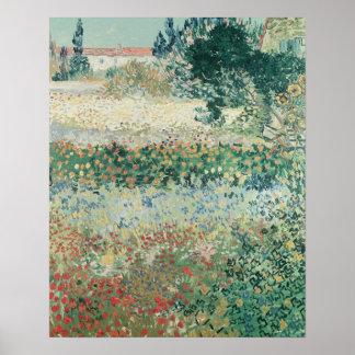 Poster Jardin de Vincent van Gogh | en fleur, Arles, 1888
