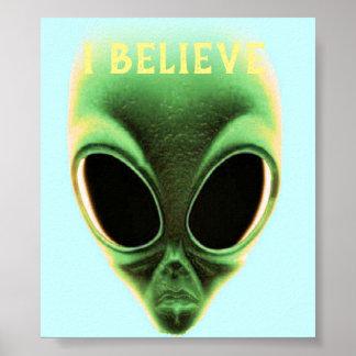 Poster Je crois en aliens