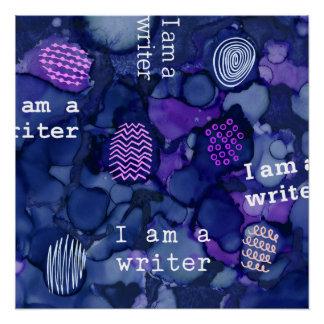 Poster Je suis un texte d'auteur sur l'encre de liquide