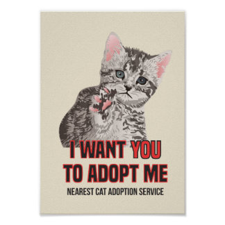 Poster Je veux que Yout m'adopte au service d'adoption de