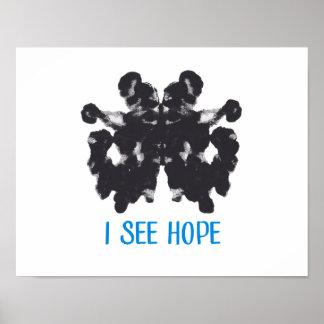 Poster Je vois l'affiche d'espoir