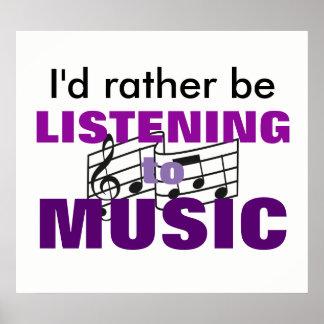 Poster J'écouterais plutôt la musique