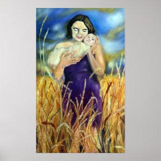 Poster Jennifer et fille - peinture par Jeanne Watson