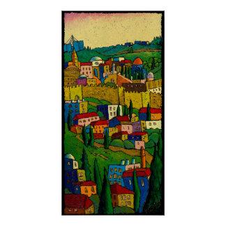 Poster Jérusalem à l'aube, affiche Jonathan KIS-Lev