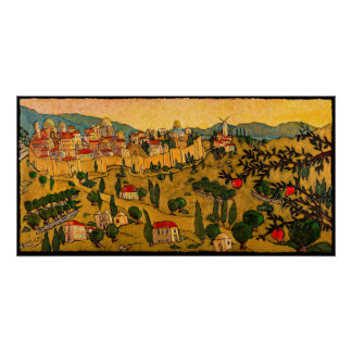 Poster Jérusalem d'or, affiche Jonathan KIS-Lev