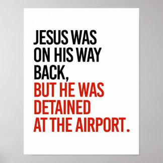 Poster Jésus était sur son dos de manière, mais a été
