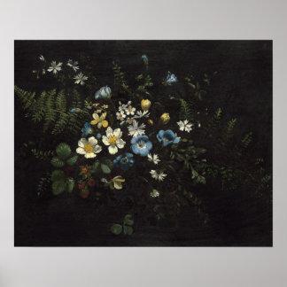 Poster Jet des fleurs et des fougères par Titian Ramsay