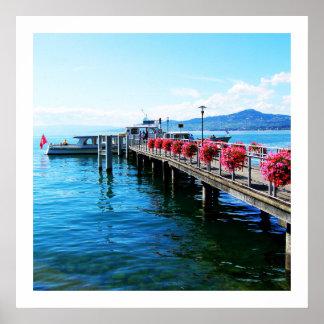 Poster Jetée sur le Lac Léman, Suisse
