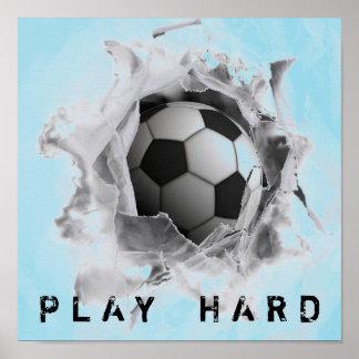 Poster jeu du football dur