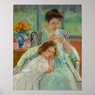 Poster Jeune couture de mère
