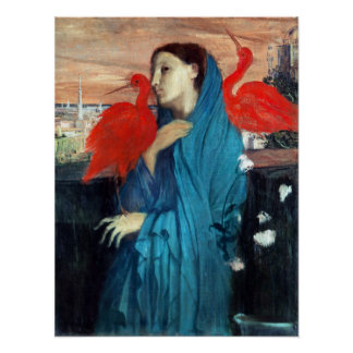 Poster Jeune femme d'Edgar Degas avec IBIS