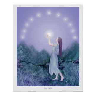 Poster Jeune fille de lune