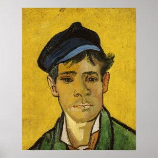Poster Jeune homme de Vincent van Gogh | avec un