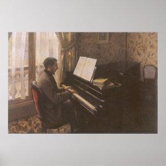 Poster Jeune homme jouant le piano par Gustave