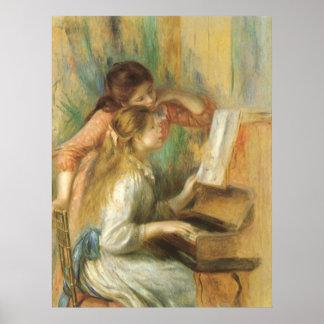 Poster Jeunes filles au piano par Pierre Renoir