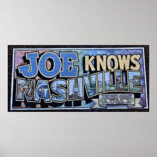 Poster Joe connaît l'affiche de peinture murale de mur de