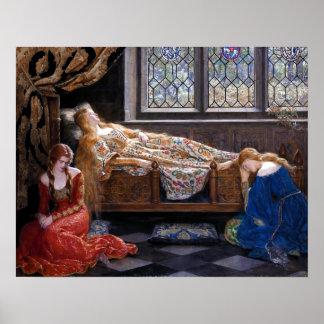 Poster John Collier la beauté de sommeil