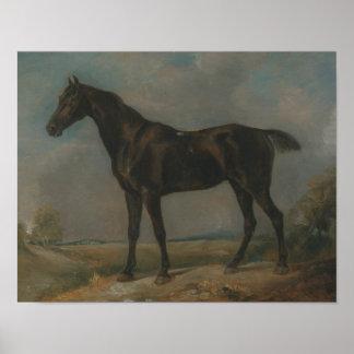 Poster John Constable - l'équitation noire de l'agent de