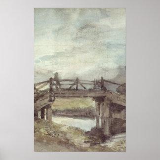 Poster John Constable   un pont au-dessus du Stour