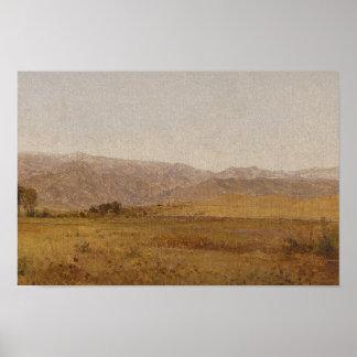 Poster John Frederick Kensett - chaîne et collines de