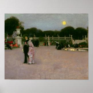 Poster John Singer Sargent - dans les jardins du