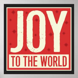 Poster Joie à la copie vintage d'art du monde