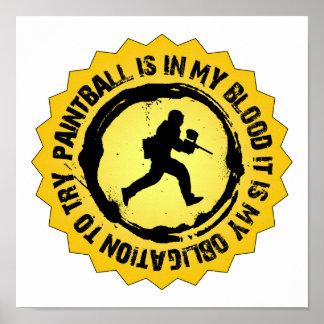 Poster Joint fantastique de Paintball