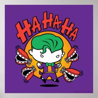 Poster Joker de Chibi avec des dents de jouet