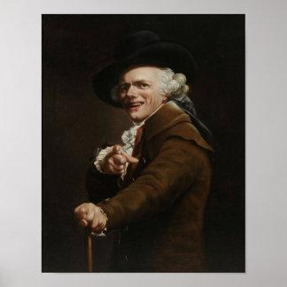 Poster Joseph Ducreux - apparence d'une peinture de