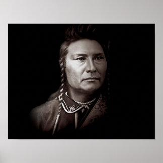 Poster Joseph en chef de l'Indien d'Amerique de Nez Perce