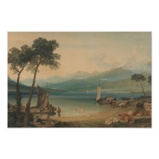 Poster Joseph Mallord William Turner - Lac Léman